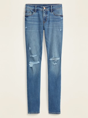 Old Navy Low-Rise Distressed Pop Icon Skinny Jeans for Women