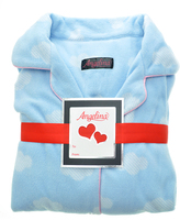 Angelina Blue Cloud Fleece Pajama Set - Plus Too