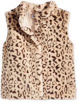 Epic Threads Faux Fur Leopard Vest, Little Girls (4-6X), Created for Macy's