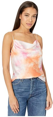WAYF Southshore Cowl Neck Cami (Passion Tie-Dye) Women's Clothing