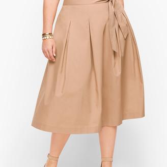 Talbots Full Poplin Skirt