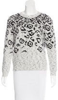 Maje Crew Neck Patterned Sweater