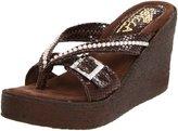 Sbicca Women's Horizon Snake Wedge Sandal