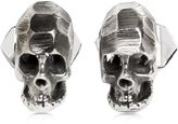 Emanuele Bicocchi Silver Skull Cufflinks