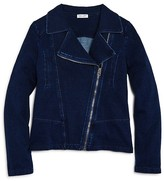 Splendid Girls' Denim Look Knit Moto Jacket - Sizes 7-14