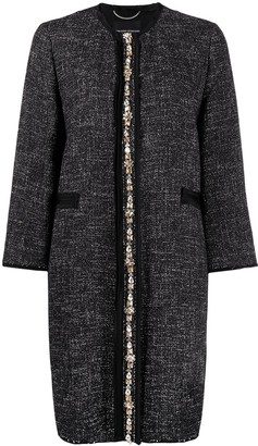 Ermanno Scervino Embellished-Detail Single-Breasted Coat
