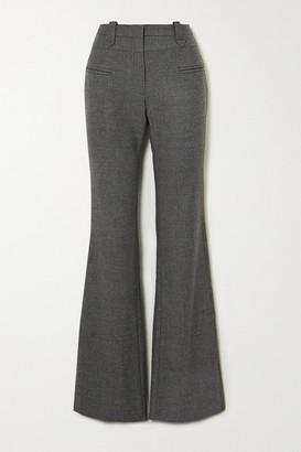 Altuzarra Serge Melange Wool-blend Bootcut Pants - Dark gray