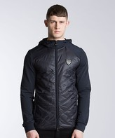 EA7 Tech Hooded Puffer Jacket