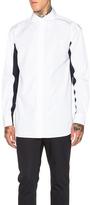 Marni Polo Neck Shirt in White,Blue.