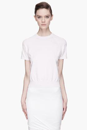 Alexander Wang Pale lavender Sheer back Knit Raglan T-shirt
