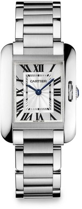 Cartier Tank Anglaise Small Stainless Steel Bracelet Watch