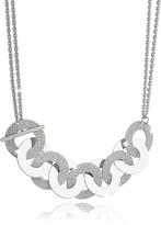 Rebecca R-Zero Rhodium Over Bronze and Steel Maxi Chain Necklace