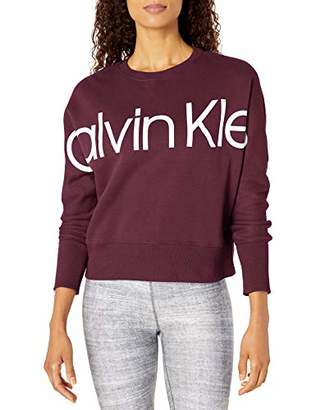 Calvin Klein Women's Long Sleeve Logo Oversized Pullover