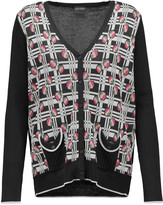 Anna Sui Cotton-blend intarsia cardigan
