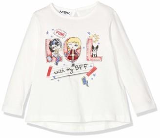 MEK Baby Girls T-Shirt Jersey CON Stampa Longsleeve