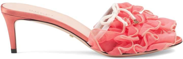 Gucci Mid-heel tulle sandal