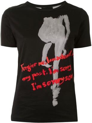 Yohji Yamamoto short sleeve Forgive T-shirt