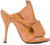 No.21 front knot sandals - women - Leather/Nappa Leather - 36.5