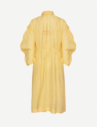 Renli Su Frill-collar crepe midi wrap dress