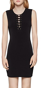 BCBGeneration Lace-Up Body-Con Dress