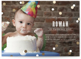 Minted Confetti Foil-Pressed Children's Birthday Party Invitations