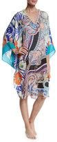 Etro Mixed-Print Coverup Tunic, Multicolor