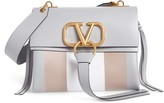 Valentino Garavani Small V-Ring Leather Shoulder Bag