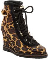 Diane von Furstenberg Senna Genuine Calf Fur Lace Wedge Boot