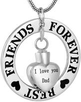 constantlife Best Friends Forever Keepsake Urn Necklace Cremation Jewelry Pendant for Ashes