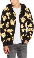 Pokemon Official Unisex Pikachu All Over Print Zip-Up Hoodie - Sweater New