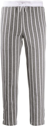 Thom Browne Stripped Cropped Track Pants