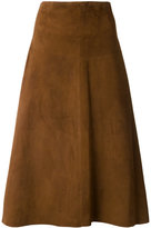 Almarosafur - A-line midi skirt - women - Calf Leather - 44