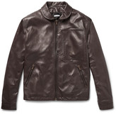 Tomas Maier Retro Leather Jacket - Brown