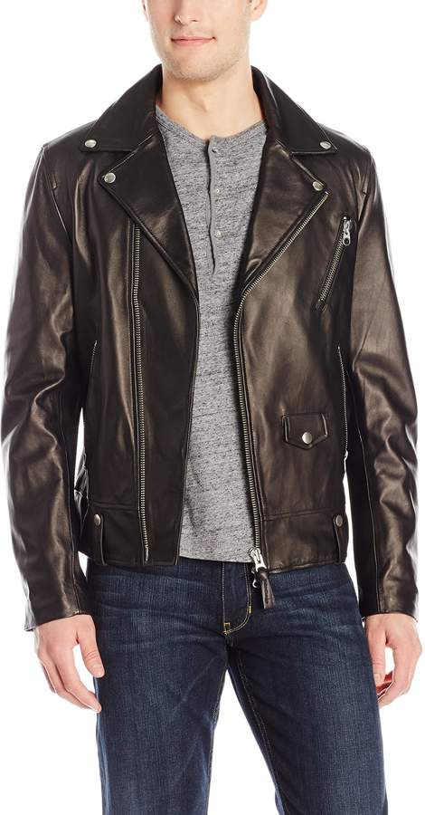 Mackage Men's Fenton Sleek Leather Biker Jacket