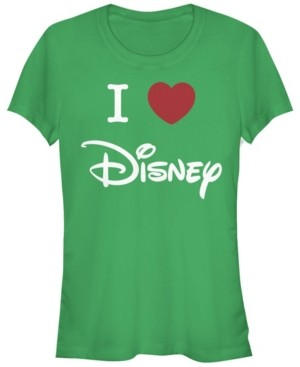 Fifth Sun Women's Disney Logo I Heart Disney Short Sleeve T-shirt