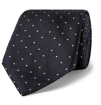 HUGO BOSS 8cm Pin-Dot Silk-Faille Tie