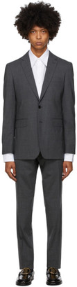 Burberry Grey Wool Slim Suit