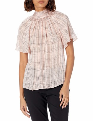 Rebecca Taylor Women's Short Sleeve Jules Blouse