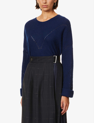 Box cashmere and silk-blend jumper