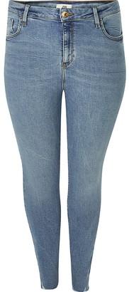 River Island Plus blue Amelie super skinny jeans