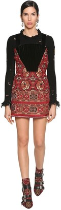 Etro Jacquard & Velvet Corset Mini Dress