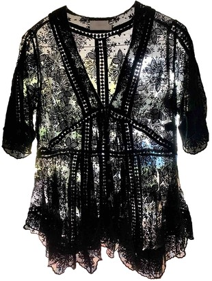 Zimmermann Black Lace Tops