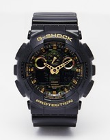 G Shock G-shock Analogue Watch Ga-100cf-1a9er - Black