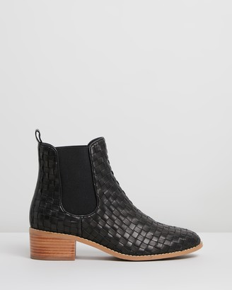 Walnut Melbourne Grace Leather Ankle Boots
