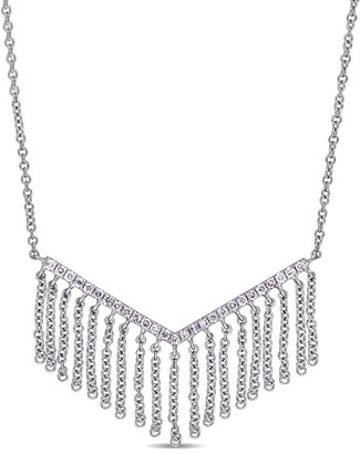 Diamond Select Cuts 14K 0.19 Ct. Tw. Diamond Fringe Necklace