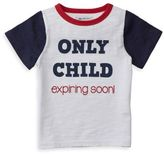 "Mud Pie Only Child Expiring Soon"" Shirt in White"