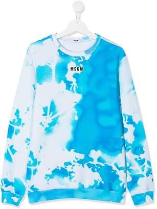 MSGM Kids TEEN abstract print sweatshirt