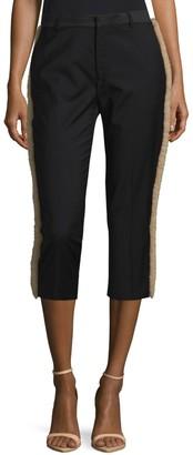 Maison Margiela Shearling Wool Cropped Pants