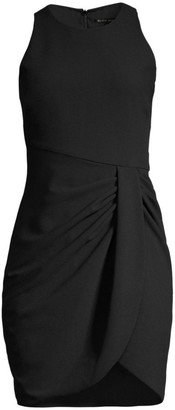 Black Halo Brett Ruched Sheath Dress