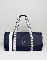 Fred Perry Track Barrel Bag Navy